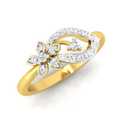 diamond studded gold jewellery - Tia Casual Ring - Pristine Fire - 1
