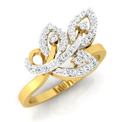 diamond studded gold jewellery - Viv Casual Ring - Pristine Fire - 1