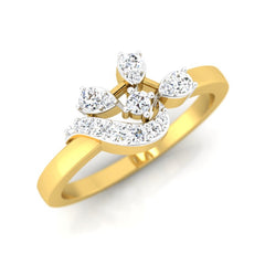 diamond studded gold jewellery - Adah Casual Ring - Pristine Fire - 1