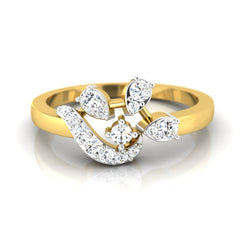 diamond studded gold jewellery - Adah Casual Ring - Pristine Fire - 2