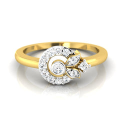 diamond studded gold jewellery - Adya Casual Ring - Pristine Fire - 2