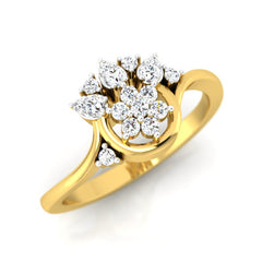 diamond studded gold jewellery - Aina Casual Ring - Pristine Fire - 1