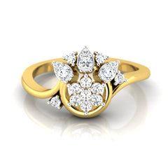 diamond studded gold jewellery - Aina Casual Ring - Pristine Fire - 2