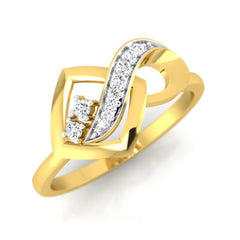 diamond studded gold jewellery - Adawna Fashion Ring - Pristine Fire - 1