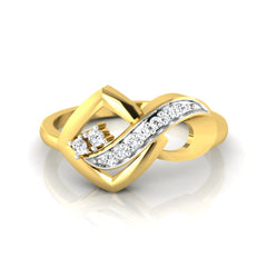 diamond studded gold jewellery - Adawna Fashion Ring - Pristine Fire - 2