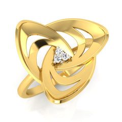 diamond studded gold jewellery - Adelina Cocktail Ring - Pristine Fire - 1