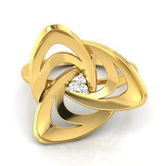 diamond studded gold jewellery - Adelina Cocktail Ring - Pristine Fire - 2