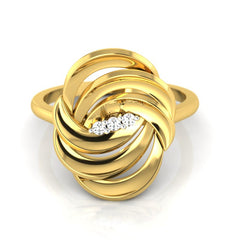 diamond studded gold jewellery - Adena Cocktail Ring - Pristine Fire - 2