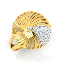 diamond studded gold jewellery - Adoncia Cocktail Ring - Pristine Fire - 1