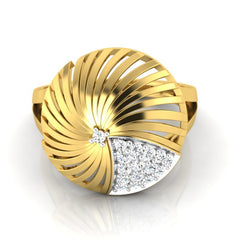 diamond studded gold jewellery - Adoncia Cocktail Ring - Pristine Fire - 2