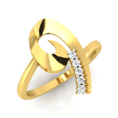 diamond studded gold jewellery - Toscana Fashion Ring - Pristine Fire - 1