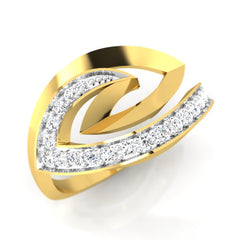 diamond studded gold jewellery - Tracey Fashion Ring - Pristine Fire - 1