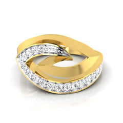 diamond studded gold jewellery - Tracey Fashion Ring - Pristine Fire - 2