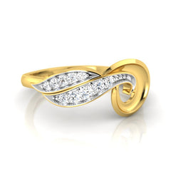 diamond studded gold jewellery - Tresha Casual Ring - Pristine Fire - 2