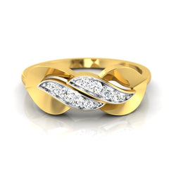 diamond studded gold jewellery - Trixie Casual Ring - Pristine Fire - 2