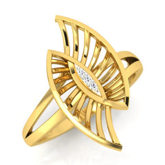 diamond studded gold jewellery - Tyfani Fashion Ring - Pristine Fire - 1
