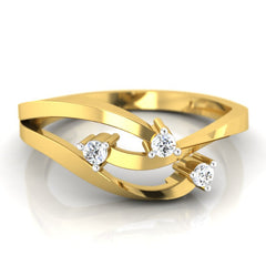 diamond studded gold jewellery - Tynesha Casual Ring - Pristine Fire - 2