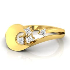 diamond studded gold jewellery - Ulalia Casual Ring - Pristine Fire - 2