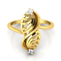 diamond studded gold jewellery - Umiko Fashion Ring - Pristine Fire - 2