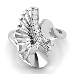 diamond studded gold jewellery - Ursa Cocktail Ring - Pristine Fire - 2