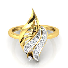 diamond studded gold jewellery - Wadd Casual Ring - Pristine Fire - 2