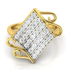diamond studded gold jewellery - Wakeisha Casual Ring - Pristine Fire - 2