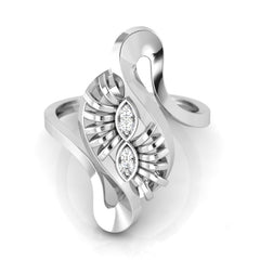 diamond studded gold jewellery - Wandie Cocktail Ring - Pristine Fire - 2