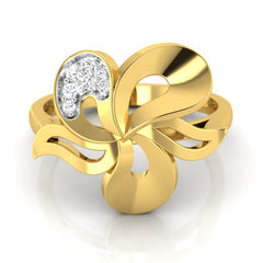 diamond studded gold jewellery - Wanekia Fashion Ring - Pristine Fire - 2