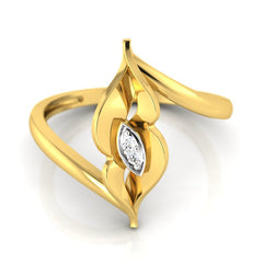 diamond studded gold jewellery - Wasila Casual Ring - Pristine Fire - 2
