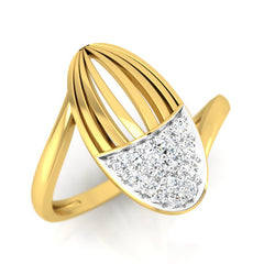 diamond studded gold jewellery - Waverly Fashion Ring - Pristine Fire - 1