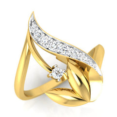 diamond studded gold jewellery - Waynette Fashion Ring - Pristine Fire - 1