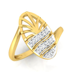 diamond studded gold jewellery - Wera Fashion Ring - Pristine Fire - 1