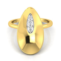 diamond studded gold jewellery - Whitley Cocktail Ring - Pristine Fire - 2