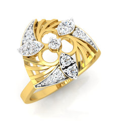 diamond studded gold jewellery - Wilona Fashion Ring - Pristine Fire - 1