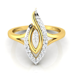 diamond studded gold jewellery - Winifred Fashion Ring - Pristine Fire - 2