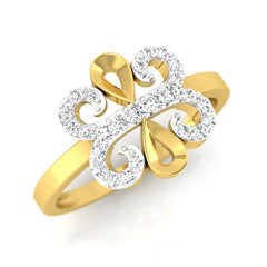 diamond studded gold jewellery - Winna Casual Ring - Pristine Fire - 1