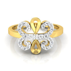 diamond studded gold jewellery - Winna Casual Ring - Pristine Fire - 2