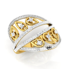 diamond studded gold jewellery - Winnie Fashion Ring - Pristine Fire - 1