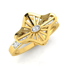 diamond studded gold jewellery - Wira Fashion Ring - Pristine Fire - 1