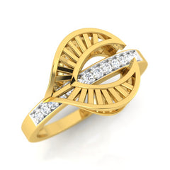 diamond studded gold jewellery - Wisia Fashion Ring - Pristine Fire - 1