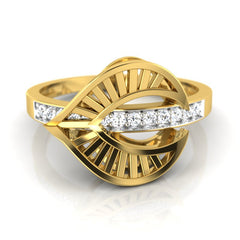 diamond studded gold jewellery - Wisia Fashion Ring - Pristine Fire - 2