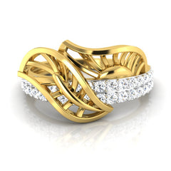 diamond studded gold jewellery - Xara Fashion Ring - Pristine Fire - 2