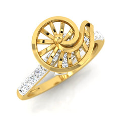 diamond studded gold jewellery - Xarika Fashion Ring - Pristine Fire - 1