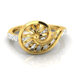 diamond studded gold jewellery - Xarika Fashion Ring - Pristine Fire - 2