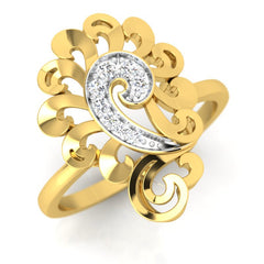diamond studded gold jewellery - Yael Cocktail Ring - Pristine Fire - 1