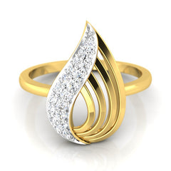 diamond studded gold jewellery - Yalena Casual Ring - Pristine Fire - 2