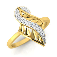 diamond studded gold jewellery - Yaletha Fashion Ring - Pristine Fire - 1