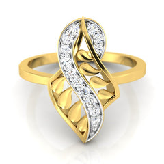 diamond studded gold jewellery - Yaletha Fashion Ring - Pristine Fire - 2