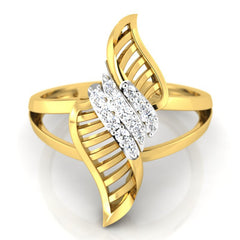diamond studded gold jewellery - Yamuna Cocktail Ring - Pristine Fire - 2