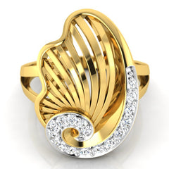 diamond studded gold jewellery - Yashira Cocktail Ring - Pristine Fire - 2